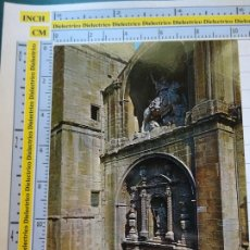 Postales: POSTAL DE LA RIOJA. AÑO 1967. LOGROÑO PUERTA DE LA IGLESIA DE SANTIAGO 513 ZERKOWITZ. 1076. Lote 290032643