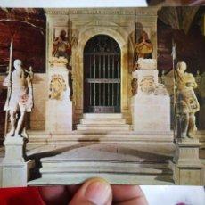 Postales: POSTAL NAJERA LOGROÑO SANTA MARÍA LA REAL PANTEÓN DE LOS REYES N 2 ESCUDO DE ORO FECHADA. Lote 291906148