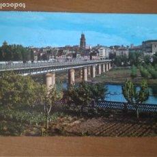 Postales: LOGROÑO (LA RIOJA) - PUENTE DE HIERRO SOBRE EL EBRO (ESCRITA Y CIRCULADA). Lote 292539838