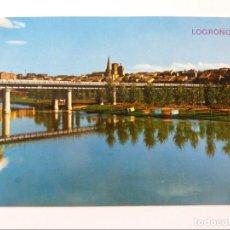 Postales: POSTAL - LOGROÑO - RIO EBRO Y VISTA PARCIAL. Lote 294919618