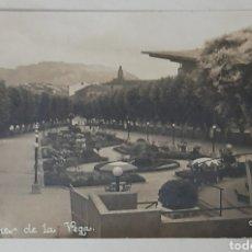 Postales: HARO. 2 JARDINES DE LA VEGA. FOTOGRÁFICA. CIRCA: 1947. Lote 295354713