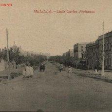Postales: MELILLA , CALLE CARLOS ARELLANOS , 371. Lote 21452383
