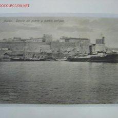 Postales: MELILLA DETALLE DEL PUERTO Y PUEBLO ANTIGUO. Lote 17227277
