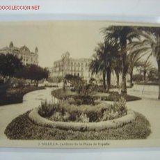 Postales: MELILLA JARDINES DE LA PLAZA DE ESPAÑA. Lote 458217