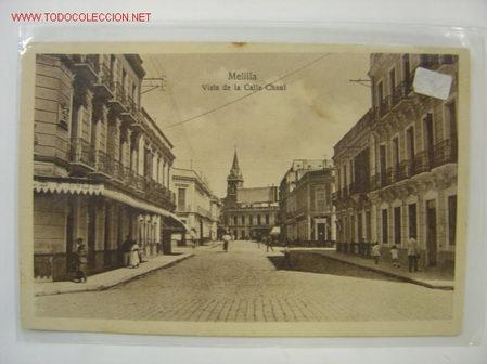 MELILLA VISTA DE LA CALLE CHAUL (Postales - España - Melilla Antigua (hasta 1939))