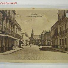 Postales: MELILLA VISTA DE LA CALLE CHAUL. Lote 7321473