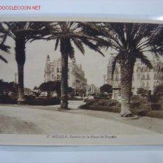 Postales: MELILLA DETALLE DE LA PLAZA DE ESPAÑA. Lote 459562