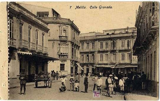 MELILLA CALLE GRANADA (Postales - España - Melilla Antigua (hasta 1939))