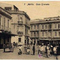Postales: MELILLA CALLE GRANADA. Lote 15982502
