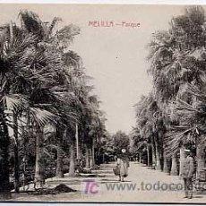Postales: MELILLA, PARQUE. EDICION BOIX HERMANOS. SIN CIRCULAR. Lote 4636156