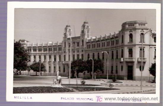 TARJETA POSTAL DE MELILLA. PALACIO MUNICIPAL. FOTO SORIA. (Postales - España - Melilla Antigua (hasta 1939))