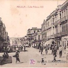 Postales: MELILLA. CALLE ALFONSO XIII.. Lote 14660401