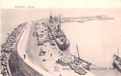 MELILLA. PUERTO. (Postales - España - Melilla Antigua (hasta 1939))