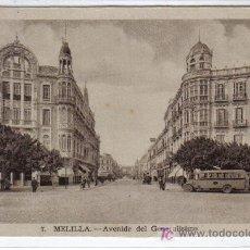 Postales: 7.- MELILLA AVENIDA DEL GENERALÍSIMO - L. ROISIN FOT - SIN CIRCULAR. Lote 26665454