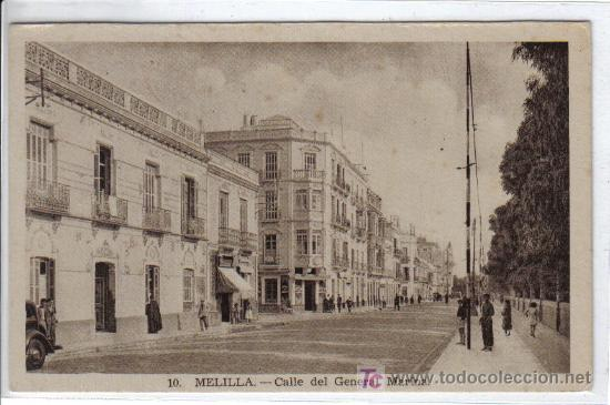 10.- MELILLA CALLE DEL GENERAL MARINA - L. ROISIN FOT - SIN CIRCULAR (Postales - España - Melilla Antigua (hasta 1939))