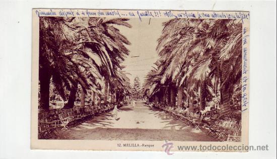 MELILLA: PARQUE. ROISIN, FOTOGRAFO. (Postales - España - Melilla Antigua (hasta 1939))