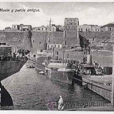 Postales: MELILLA. MUELLE Y PUEBLO ANTIGUO. ED. BOIX HERMANOS. SIN CIRCULAR. Lote 9590097