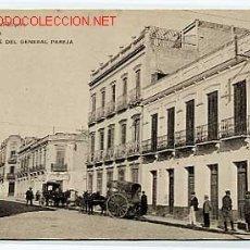 Postales: MELILLA. CALLE DEL GENERAL PAREJA. ED. POSTAL EXPRES HAUSER Y MENET. SIN CIRCULAR. Lote 13039291