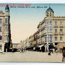 Postales: MELILLA. ENTRADA DE LA CALLE ALFONSO XIII. EDICIÓN BOIX HERMANOS. SIN CIRCULAR. Lote 10833111