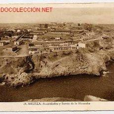 Cartes Postales: MELILLA ACANTILADOS Y BARRIO DE LA ALCAZABA. ED. ROISIN Nº 24. CIRCULADA. Lote 12840716