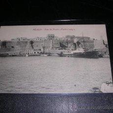 Postales: MELILLA - VISTA DEL MUELLE Y PUEBLO ANTIGUO. Lote 10304536