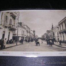 Postales: 13 - MELILLA , AVENIDA DE LA REPUBLICA , L. ROISIN FOT. Lote 10881518