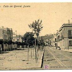 Postales: MELILLA, CALLE DEL GENERAL BUCETA, P23804. Lote 25379607