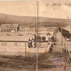 Postales: POSTAL MELILLA VISTA GENERAL DEL BARRIO REAL . Lote 11868668