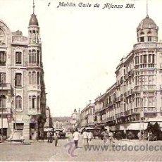 Postales: POSTAL MELILLA CALLE DE ALFONSO XIII. Lote 11868706