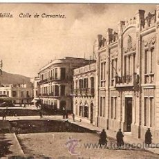 Postales: POSTAL MELILLA CALLE DE CERVANTES . Lote 11868715