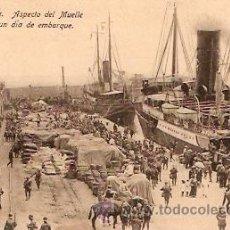 Postales: POSTAL MELILLA ASPECTO DEL MUELLE . Lote 11868795