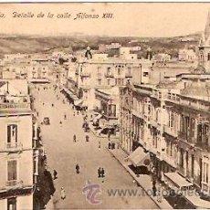Postales: POSTAL MELILLA DETALLE DE LA CALLE ALFONSO XIII. Lote 11868847