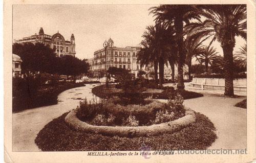 Nº 5393 POSTAL MELILLA JARDINES DE LA PLAZA DE ESPAÑA (Postales - España - Melilla Antigua (hasta 1939))