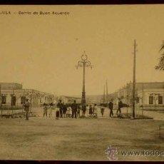 Postales: ANTIGUA POSTAL DE MELILLA - BARRIO DE BUEN ACUERDO - NO CIRCULADA - ED. V.L. SEVILLA - ESCRITA - REV. Lote 12569967