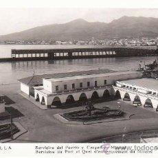 Postales: ANTIGUA FOTO POSTAL DE MELILLA - SERVICIOS DEL PUERTO Y CARGADERO MINERAL - ED. L. ROISIN.. Lote 27184000
