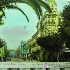 Postales: + MELILLA, AVENIDA DEL GENERALISIMO, COLOREADA, USADA. Lote 14481966