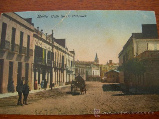 MELILLA. GARCÍA CABRELLES. (Postales - España - Melilla Antigua (hasta 1939))