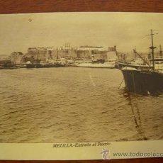 Postales: MELILLA: ENTRADA AL PUERTO.. Lote 14180466