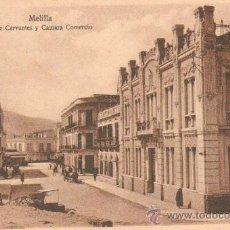 Postales: POSTAL ANTIGUA DE MELILLA. CALLE CERVANTES Y CAMARA COMERCIO. P-CEME-148. Lote 13238074
