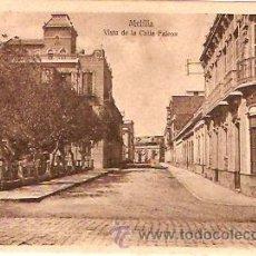 Postales: POSTAL MELILLA VISTA DE LA CALLE FALCON. Lote 13582334