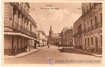 POSTAL MELILLA VISTA DE LA CALLE CHAUL (Postales - España - Melilla Antigua (hasta 1939))