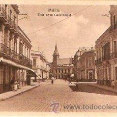 Postales: POSTAL MELILLA VISTA DE LA CALLE CHAUL. Lote 13582539