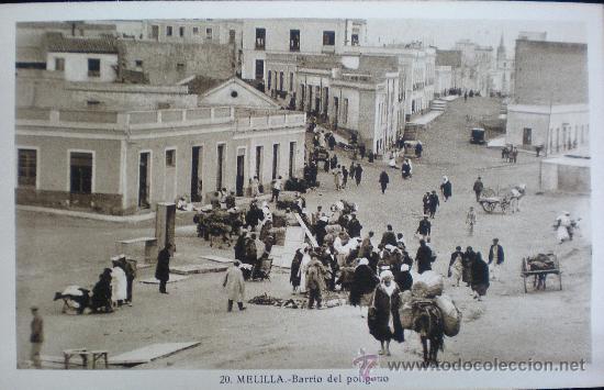 TARJETA POSTAL. MELILLA. BARRIO DEL POLÍGONO. AÑOS 30. (Postales - España - Melilla Antigua (hasta 1939))