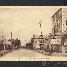 Postales: POSTAL DE MELILLA: ENTRADA AL BARRIO DEL GENERAL SANJURJO (ETS.PHOTO ALBERT NUM.5). Lote 14530817