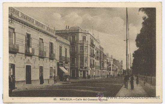 POSTAL MELILLA - CALLE GENERAL MARINA - ROISIN 1947 (Postales - España - Melilla Antigua (hasta 1939))