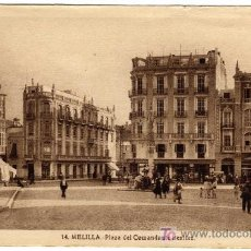 Postales: BONITA POSTAL - MELILLA - PLAZA DEL COMANDANTE BENITEZ. Lote 24940687