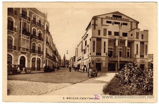 BONITA POSTAL - MELILLA - CALLE CANALEJA (Postales - España - Melilla Antigua (hasta 1939))