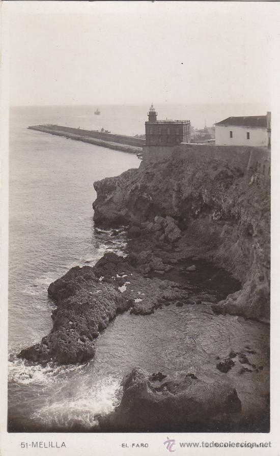 EL FARO: MELILLA: BONITA POSTAL SIN USAR Nº 51 L. ROISIN FOTOGRAFO. (Postales - España - Melilla Antigua (hasta 1939))