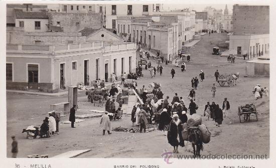 BARRIO DEL POLIGONO: MELILLA: BONITA POSTAL SIN USAR Nº 35 L. ROISIN FOTOGRAFO. (Postales - España - Melilla Antigua (hasta 1939))
