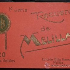Postales: LIBRO 20 TARJETAS POSTALES DE MELILLA. EDICIÓN BOIX HERMANOS (C.1910). Lote 26905437